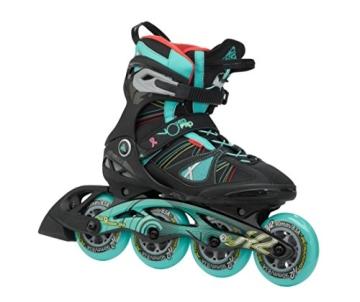K2 Damen Inline Skate V02 90 Pro W, Schwarz/Türkis, 7.5, 3050104.1.1.075 - 1
