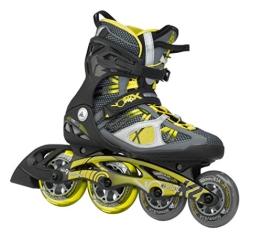 K2 Herren Inline Skate V02 100 X Pro, Grau/Gelb, 9.5, 3050007.1.1.095 - 1