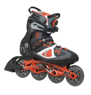 K2 Herren Inline Skate VO2 90 Boa M, Grau/Rot, 12, 3050009.1.1.120 - 1
