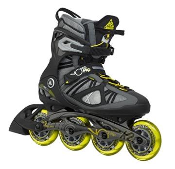 K2 Herren Inline Skate VO2 90 Pro M, Grau/Gelb, 10.5, 3050008.1.1.105 - 1